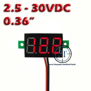 harga Kit Voltmeter Digital 2.5-30V Merah (-) Frame BB-19A Tokopedia.com