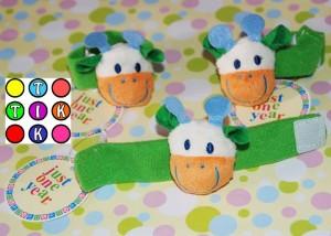 Mainan Anak Carters - Gelang Rattle (Bunyi) Kodok, Ayam dan Bebek