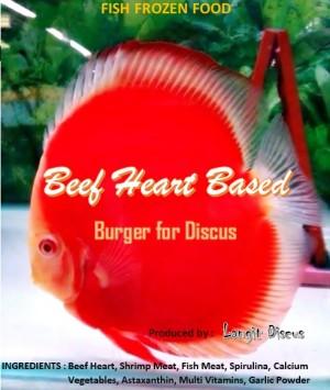 Burger pakan ikan discus