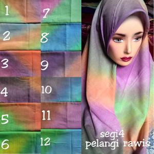 jilbab segiempat pelangi rawis /jilbab segi empat pelangi rawis