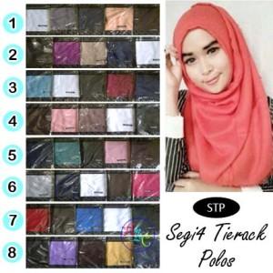 harga Jilbab Segi Empat Tierack Polos   Hijab Harga Grosir Tanah Abang STP Tokopedia.com