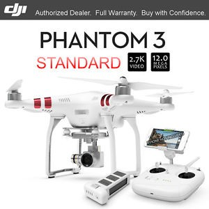 DJI PHANTOM 3 STANDARD CAME 2.7K VIDEO HD RECORD