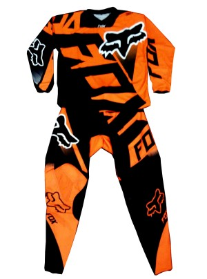 harga JERSEY SET FOX ORANGE BLACK / MOTOR CROSS / OFFROAD / ADVENTURE Tokopedia.com