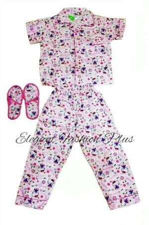 harga Baju tidur setelan panjang - piyama anak perempuan HK sandal Tokopedia.com