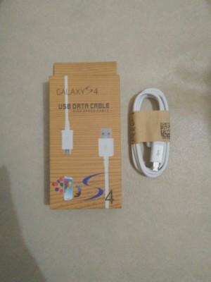 Kabel data SAMSUNG + Packing Kayu S4