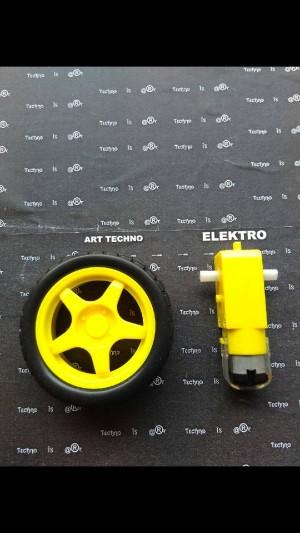 harga motor dc gearbox + ban Tokopedia.com
