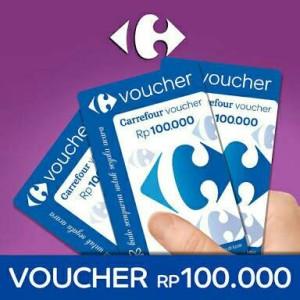 harga Voucher Carrefour Pecahan 100 rb Tokopedia.com