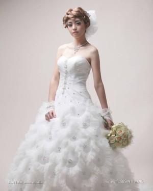 weddinh gown merak ekor