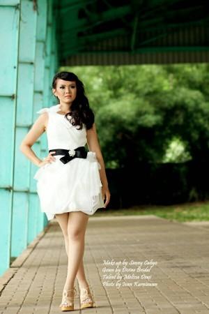 dress pendek bunga