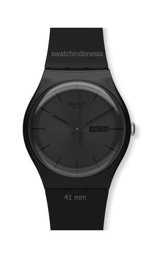 harga Jam Tangan SWATCH ORIGINAL 100% SUOB702 BLACK REBEL murah hitam Tokopedia.com