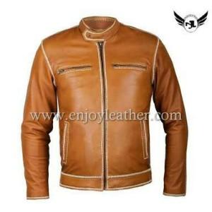 jaket kulit domba asli di garut model jahitan sulam