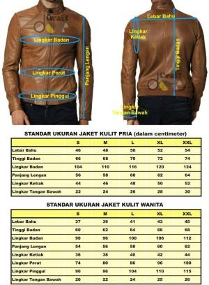 all size jaket kulit domba cewe dan cowo + cara mengukurnya
