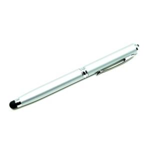 5 in 1 Stylus Capacitive Touch Pen Ballpoint Laser Pointer aluminium