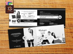 UNDANGAN / WEDDING CARD MONOCROM PAKE PHOTO