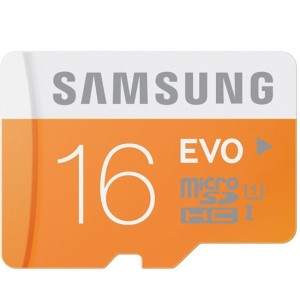 Samsung 16GB MicroSDHC EVO UHS-I Class 10 - 48MB/s - Orange-Putih