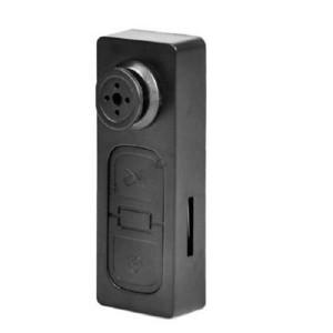 Mini   Spy Button Shirt Camera   Hitam