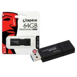 Kingston DT 100 G3 64GB USB 3.0 Hitam