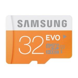 Samsung 32GB MicroSD EVO UHS-I Class 10 - 48MB/s - Orange/Putih