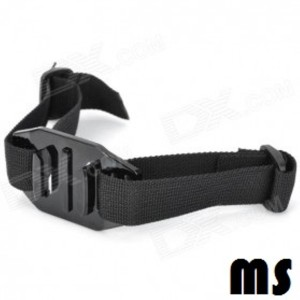 Helmet Strap Mount for GoPro and Xiaomi Hitam/Black