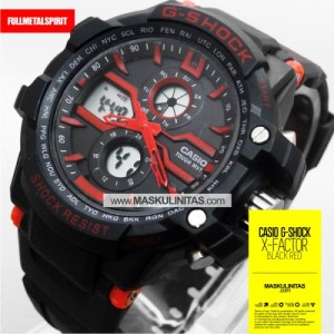 Jam Tangan Pria Casio G-Shock X-Factor Black Red