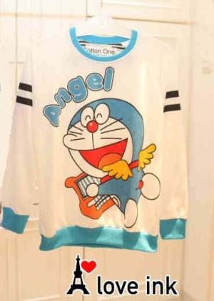 Sweater Doraemon White Angel