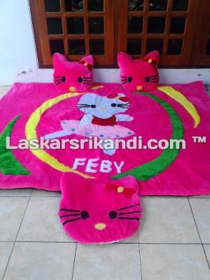 Karpet Set Karakter Hello Kitty Dance