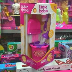 mainan bersih rumah sapu pel little helper