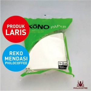Kono Paper Filter 1-2 Cups White 100 lembar