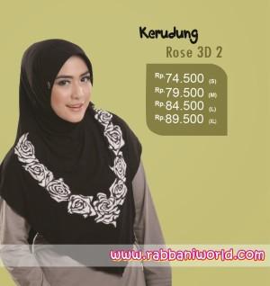 DISKON Kerudung Rabbani Rose 3D 2