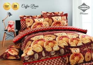 Bedcover Kendra Premier 180 motif Coffe Bear