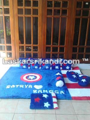 Karpet Fullset Karakter Captain Amerika