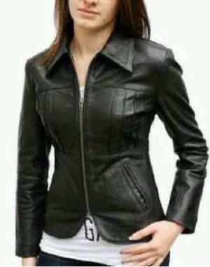 jacket wanita kulit sintetis barang sesuai pic