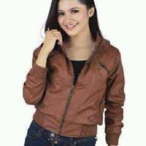 jacket wanita kulit sintetis
