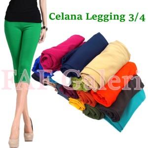 Celana legging 3/4  All size Polos Harga Murah Grosir