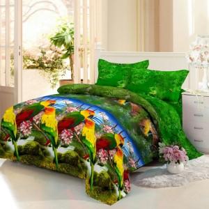 Bedcover Santika Deluxe (D'luxe) 3D ukuran 180 x 200 – The Parrot