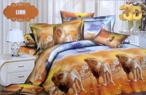 Bedcover Santika Deluxe (D'luxe) 3D ukuran 180 x 200 – Lion