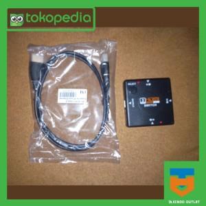 Mini HDMI Switch 3 Port (1 Port Output dan 3 Port Input) dan HDMI Cabl