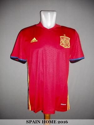 JERSEY SPANYOL (SPAIN) HOME EURO 2016 GRADE ORI