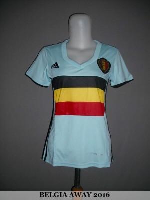JERSEY BELGIA (BELGIUM) AWAY LADIES EURO 2016 GRADE ORI