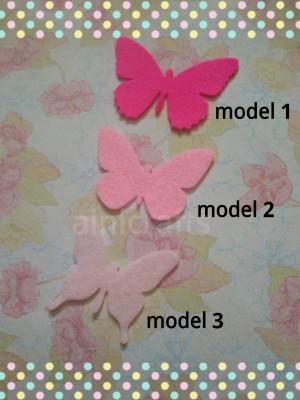 Aplikasi Flanel Kupu-kupu besar