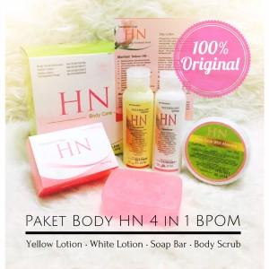 HN body lotion 4 in 1 BPOM   Paket HN Body Lotion 4in1