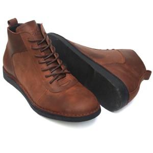 Sepatu Kulit Boots LeCies Brown