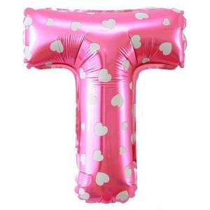 Foil Balon Huruf M - Pink Motif Love. Source · Balon Foil SNI 19&#