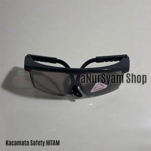 Kacamata Las / Kacamata Safety Hitam (Bahan Plastik)