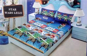 Sprei D'luxe Kintakun ukuran 180 x 200 – Star Wars Lego