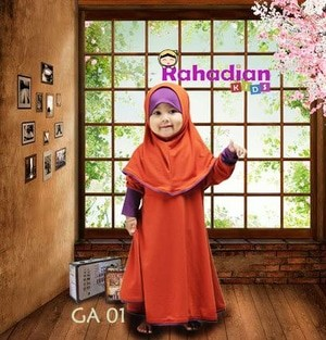 Gamis Anak Jersey 01 S