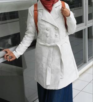 Autumn Coat flower White - Long Coat - Limited Edition Coat