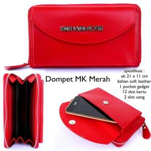 dompet wanita kulit mk merah