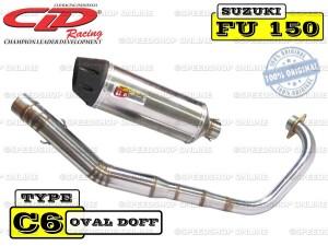 Knalpot CLD Racing Satria FU/Raider type C6 Silencer Oval Doff