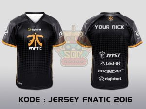 JERSEY / KAOS TEAM GAMING DOTA 2 FNATIC 2016